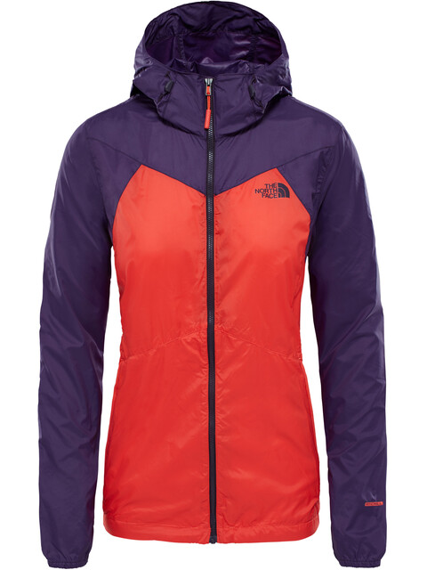The North Face W's Flyweight Hoodie Fire Brick Red/Galaxy Purple